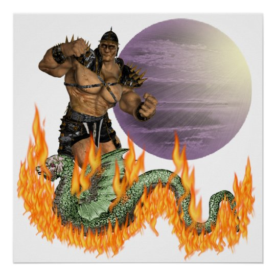 """Dragon Fighter 24X24"""" Poster"""
