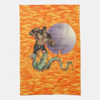 Dragon Fighter American MoJo Kitchen Towel