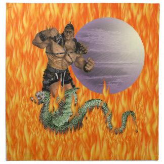 Dragon Fighter American MoJo Napkin