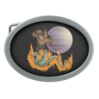 Dragon Fighter Belt Buckle