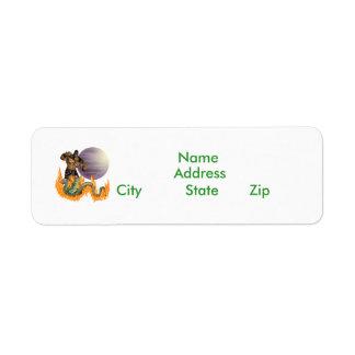 Dragon Fighter Return Address Label