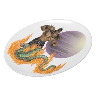 """Dragon Fighter Plate 10"""""""