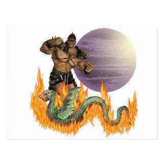 Dragon Fighter Postcard