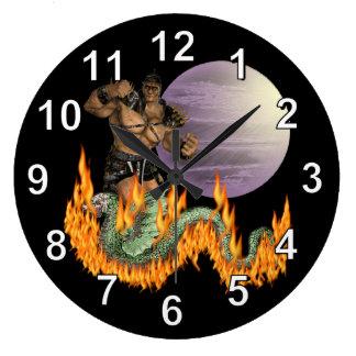 Dragon Fighter Wall Clock