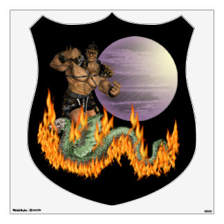 Dragon Fighter Wall Decal