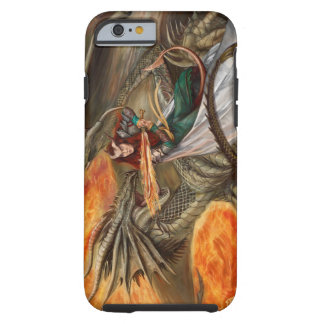 Dragon fighting a Teifling Tough iPhone 6 Case