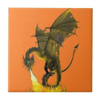 Dragon Fire Breath Ceramic Tile