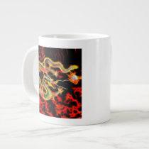 Dragon Fire decor on Lucky Energy Giant Coffee Mug