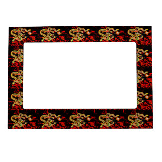 Dragon Fire decor on Lucky Energy Magnetic Picture Frame