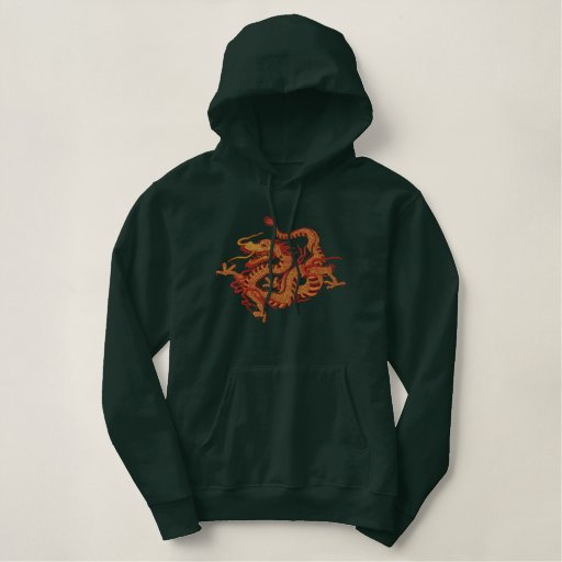 Dragon Fire Embroidered Hoodie