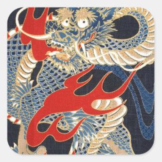 DRAGON FIRE - JAPANESE PATTERN STICKER