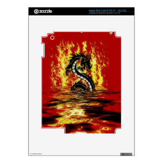 Dragon & Fire Mythical Fantasy Artwork Decals For iPad 3