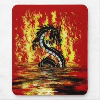 Dragon & Fire Mythical Fantasy Artwork Mouse Pad
