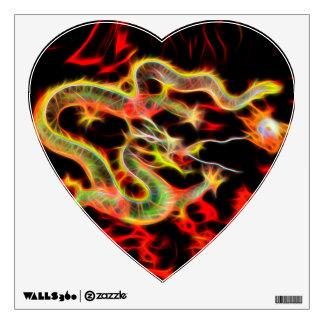 Dragon Fire on Lucky Energy Room Sticker