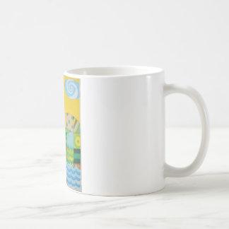 dragon fishing coffee mug