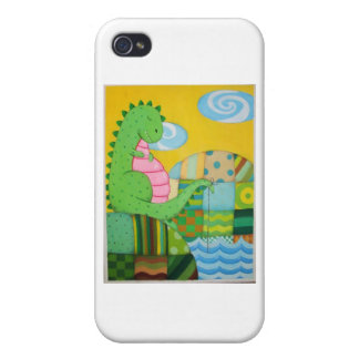 dragon fishing iPhone 4 cover