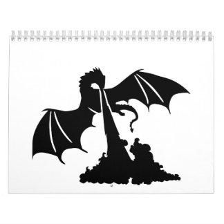 Dragon flames calendar