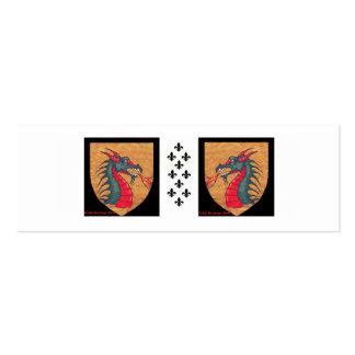 Dragon Fleur de Lis Mini Business Card