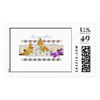 dragon flies stamp