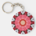 Dragon Flower Abstract Key Chains