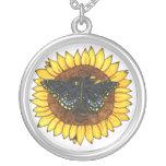 Dragon Flutter on Sunflower Pendant
