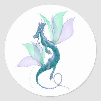 Dragon Fly Classic Round Sticker