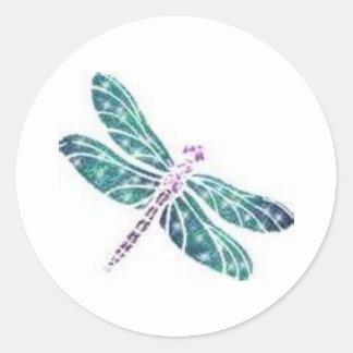 Dragon Fly Classic Round Sticker