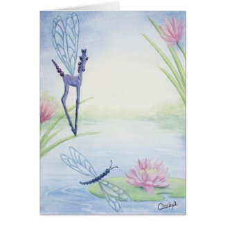 Dragon Fly Fantasy Horse Card