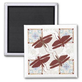 Dragon Fly, Kaleidoscope & Damask - Magnet 1