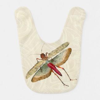 Dragon Fly Painting - Baby Bib 1B
