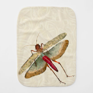 Dragon Fly Painting - Baby Burp Cloth 1