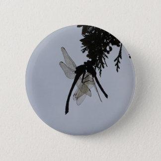 Dragon fly pinback button