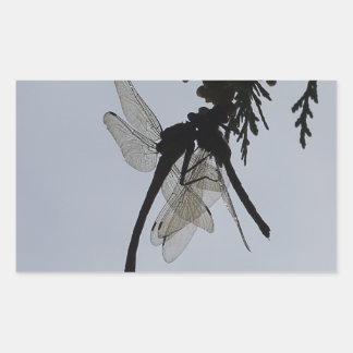 Dragon fly rectangular sticker