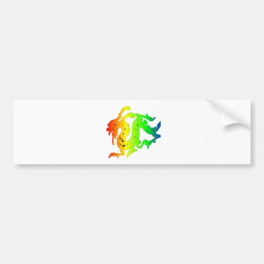 dragon fly to success bumper sticker