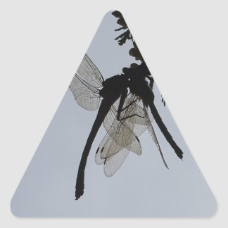 Dragon fly triangle sticker