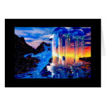 Dragon Flying Beyond the Edge of Night Greeting Cards