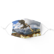 Dragon Flying Breathing Fire Wyvern Animal Adult Cloth Face Mask