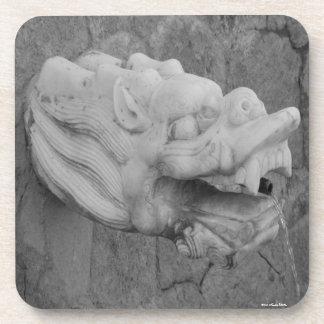 Dragon Fountain Cork Coaster