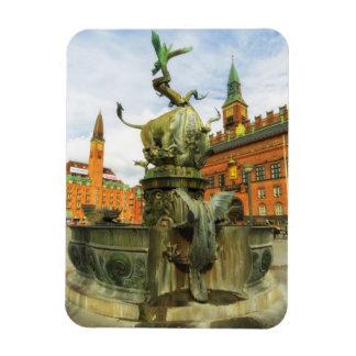 Dragon Fountain in Copenhagen Rectangular Photo Magnet