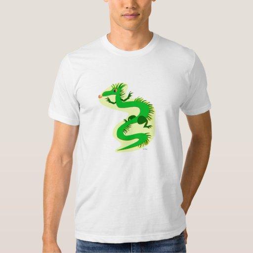 Dragón franjado verde playera