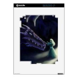 dragon friend fantasy art skin iPad 2 decals