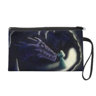 dragon friend fantasy art wristlet