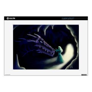 "dragon friend fantasy art zazzle skin decal for 15"" laptop"