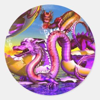 Dragon from  Lunar Series Classic Round Sticker
