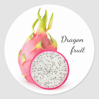Dragon fruit classic round sticker
