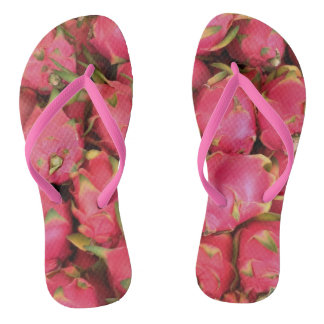 Dragon Fruit Flip Flops