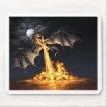 Dragón fuego tapetes de raton
