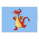 Dragon Funny Happy Fantasy Fiction Drawing Cartoon Cards