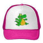Dragon Funny Happy Fantasy Fiction Drawing Cartoon Trucker Hat
