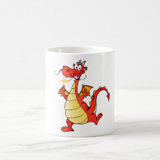 Dragon Funny Happy Fantasy Fiction Drawing Cartoon Coffee Mug